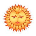Sun woman Stock Images