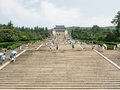 The sun yat sen mausoleum is forerunner of democratic revolution in modern china s and its subsidiary memorial Royalty Free Stock Photo