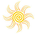 Sun of the yellow beads Royalty Free Stock Photos