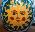 The sun of yesteryear brilliant photo antique vase Royalty Free Stock Images