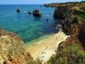 Sunbath in Portugal Royalty Free Stock Photo