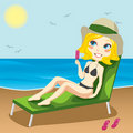 Sunbathing Blond Royalty Free Stock Photos