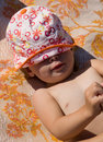Sunbathing kid Royalty Free Stock Image