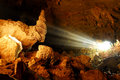 Sunbeam in cave Royalty Free Stock Photo