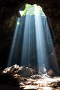 Sunbeam in cave Royalty Free Stock Images