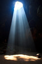 Sunbeam into the cave to at national park in thailand Royalty Free Stock Photos
