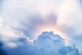 Sunbeam after the clouds nature background Royalty Free Stock Image