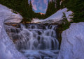 Sunbeam creek falls you can see on stevens canyon road in mt rainier np Stock Images