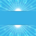 Sunbeams on a blue background abstract eco Stock Image
