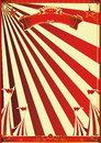 Sunbeams red circus a poster with for your advertisement Stock Photos