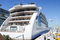 Sunborn floating hotel in gibraltar amazing cruise liner turned with restaurant boating the most amazing views over Royalty Free Stock Image