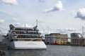 The sunborn luxury hotel ship a float on london excel marina picture is good to show location features and places Stock Photography