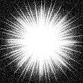 Sunburst. Abstract vector black and white halftone background