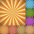 Sunburst colorful backgrounds Royalty Free Stock Photos