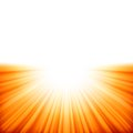 Sunburst rays of sunlight tenplate eps vector file included Stock Photos
