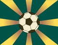 Sunburst Soccer Background Royalty Free Stock Photography
