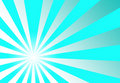 Sunburst Turqouise Blue Abstract Background Stock Photography