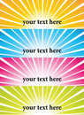 Sunburst vector banners Royalty Free Stock Photo