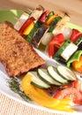 Sund livsstilmålvegetarian Arkivbild