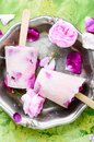 Sundae with taste of rose Royalty Free Stock Photo