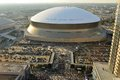 Sunday afternoon at superdome new orleans louisiana usa october on the before the night nfl game between green bay packers vs new Royalty Free Stock Photography