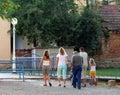 Sunday family walk Stock Photography