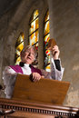 Sunday Mass Preacher Royalty Free Stock Photography
