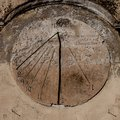 Sundial carved in stone Royalty Free Stock Photo