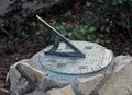 Sundial close up of a during the day Stock Photos