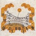 Sundial on the czech monastery Stock Image
