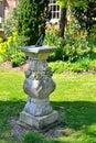 Sundial old in the garden Stock Photos