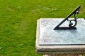 Sundial old in the garden Royalty Free Stock Image