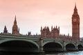 Sundown at big ben classic view london gothic architecture uk Stock Image
