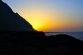 Sundown at el hierro island canaries Stock Photo