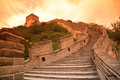 Sundown of Great Wall, Beijing Stock Images