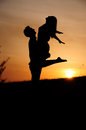 Sundown lovestory sunset sunshine couple Stock Photos