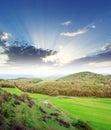 Sundown in mountain Royalty Free Stock Photo