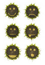 Sunflower emoticons Royalty Free Stock Image