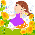 Sunflower fairy Royalty Free Stock Images