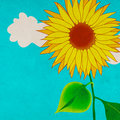 Sunflower, grungy illustration Stock Photos