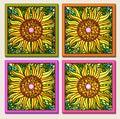 Sunflower multi-mosaic Royalty Free Stock Photo