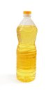 Sunflower oil in a bottle Royalty Free Stock Photo