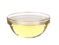 Sunflower oil in glass bowl. Royalty Free Stock Photo