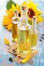 Sunflower oil. Royalty Free Stock Photo
