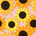 Sunflower pattern design Royalty Free Stock Photo