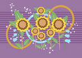 Sunflower with purple background.Background.Wallpa Stock Image