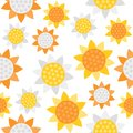 Sunflower seamless pattern for wallpaper or wrapping paper summer theme Royalty Free Stock Photo