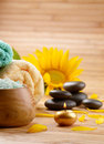 Sunflower spa set Royalty Free Stock Image
