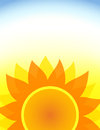 Sunflower summer poster Royalty Free Stock Photo