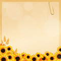 Sunflowers frame illustration of in autumn Stock Image